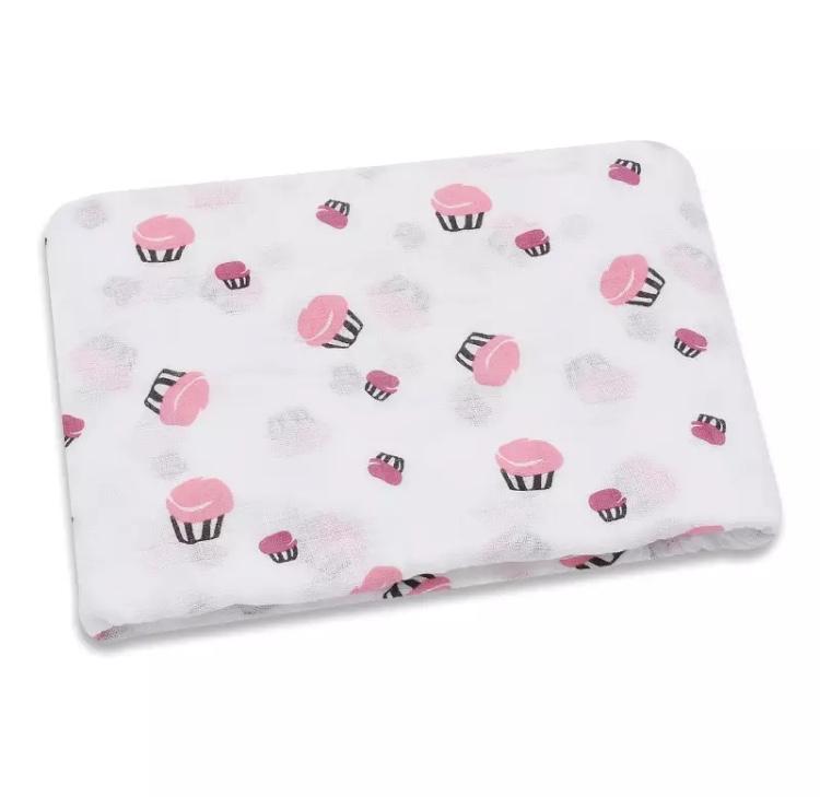 Hydrofiele doek cupcakes 110x110cm