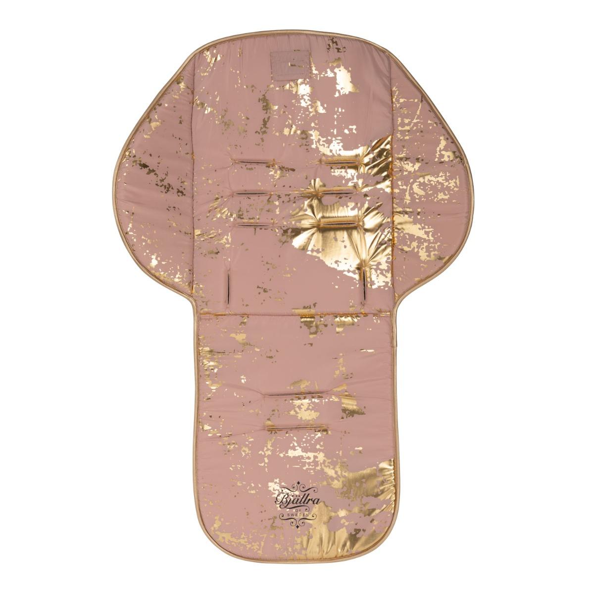 Roze met gouden kinderwagen seat liner