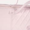 Roze gestikte luiertas incl. verschoningsmat 38 x 28 x 19 cm