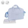 Blauwe Bow luiertas met verschoningsmat - 51 x 30 x 15cm