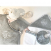 Classic chic set grijs: badcape, washand & slabbetje