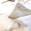 Classic chic set beige: badcape, washand & slabbetje