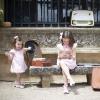 Roze zomer jurkje met strikjes Bambula