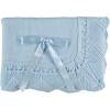 Blauwe babydeken met strik