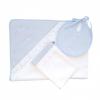 Classic chic set baby blauw: badcape, washand & slabbetje