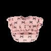 Roze afneembaar ruffle slabbetje met strikjes