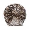 Baby Turban velvet donut 6-18M leopard
