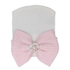 Newbornmuts strass wit roze
