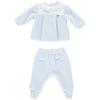 2-delig baby blauw classic velours baby pakje