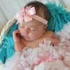 Roze Crystal bow haarbandje