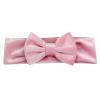 Licht roze velvet haarbandje met strik