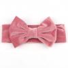 Roze velvet haarbandje