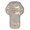 Grijs met gouden kinderwagen seat liner