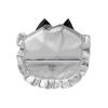 Zilver slabbetje ruffle