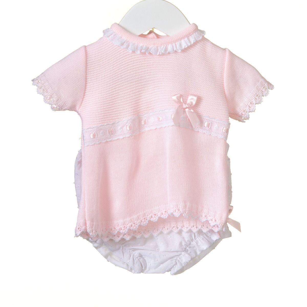 dbd1904414403e Roze met wit gebreid zomers setje van Bluesbaby Zip Zap kopen  -