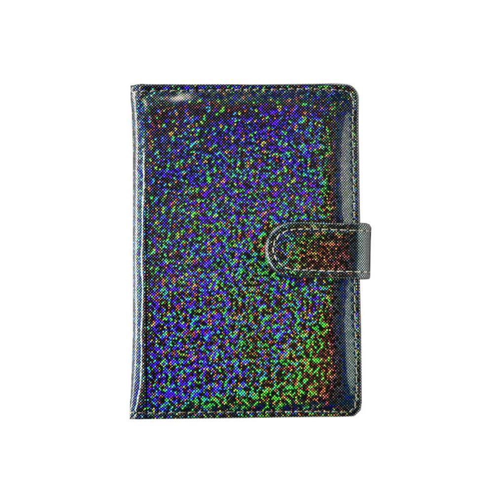 Zwart glitter paspoorthoes