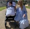 Kinderwagen voetenzak blauw universeel