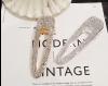 Rhinestone haarclip sparkle zilver