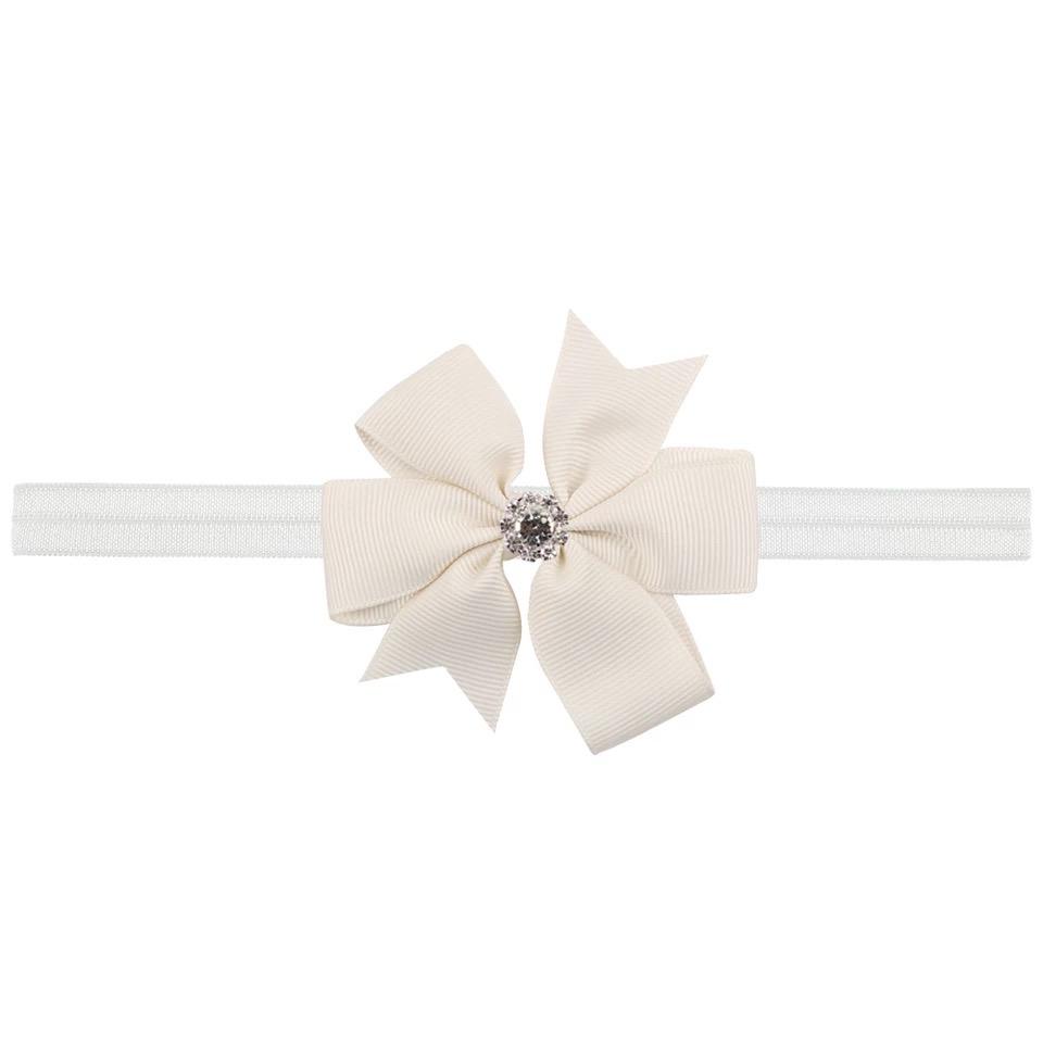 Wit Crystal bow haarbandje
