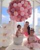 Roze ballerina haarclipje