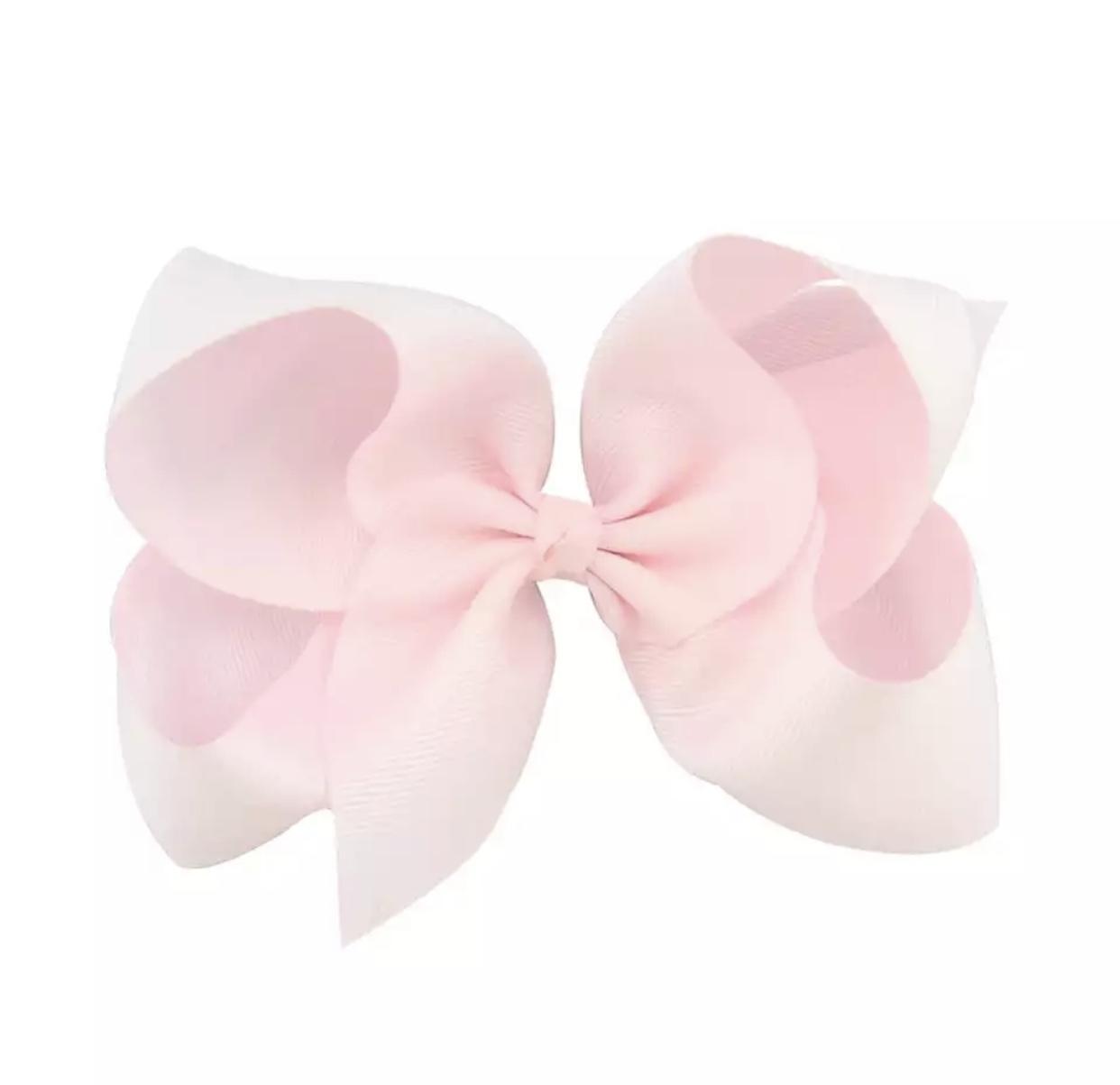 Licht roze XL Bow haarclip