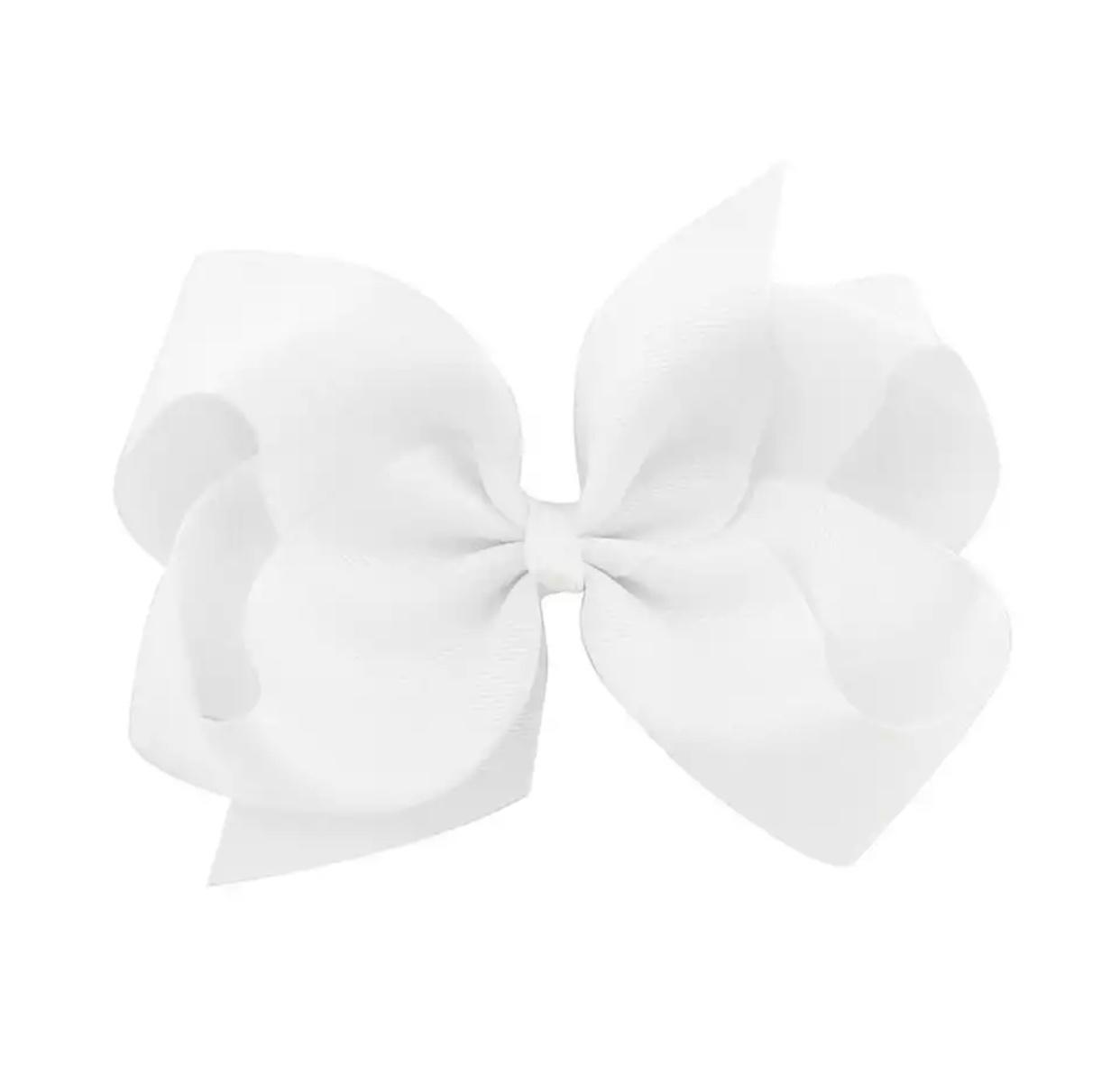 Witte XL bow haarclip