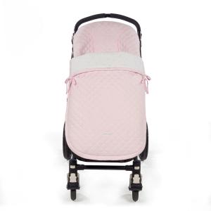 Roze quilted voetenzak