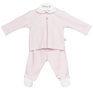 Roze 2-delig babypakje