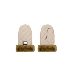 Luxe beige diamond handschoenen