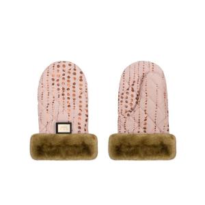 Luxe roze met gouden stippen handschoenen