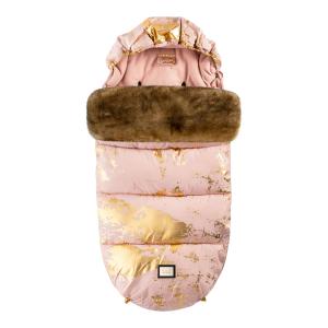 Luxe roze met gouden voetenzak