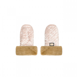 Luxe roze velvet kinderwagen handschoenen