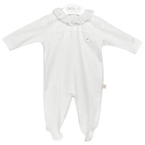 Witte classic babypakje met kraag