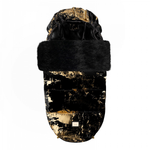 Luxe zwart met gouden voetenzak
