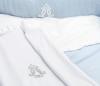 Wit velours Royal Monogram dekentje