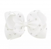 Witte XL Sparkle Bow haarclip