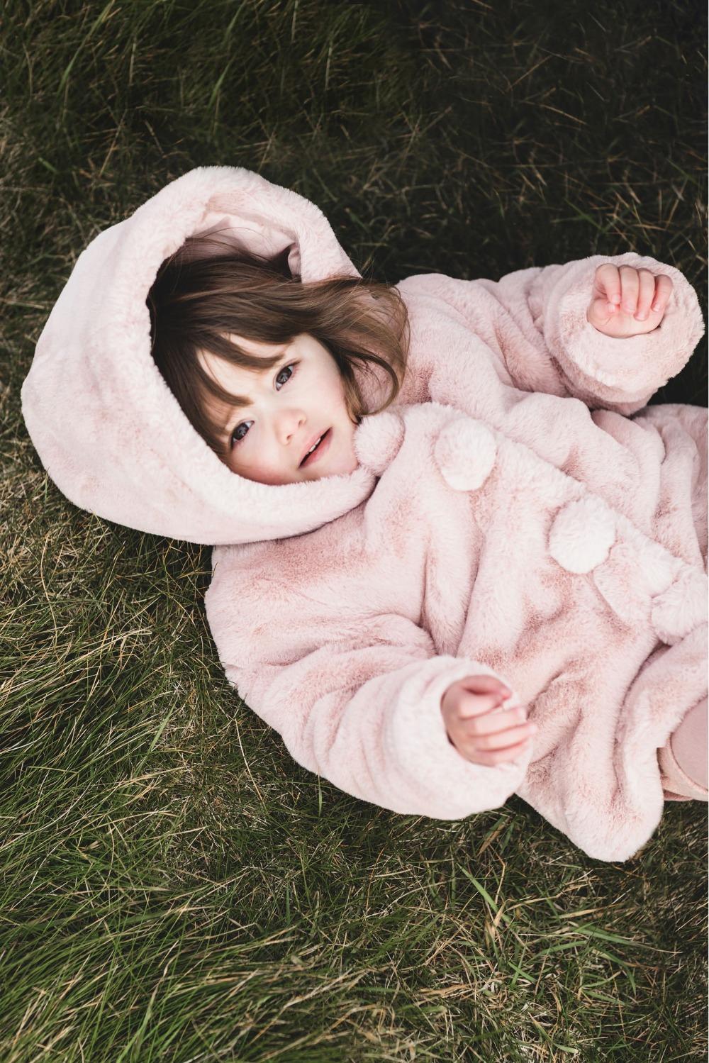 Luxury Fake Fur jasje roze