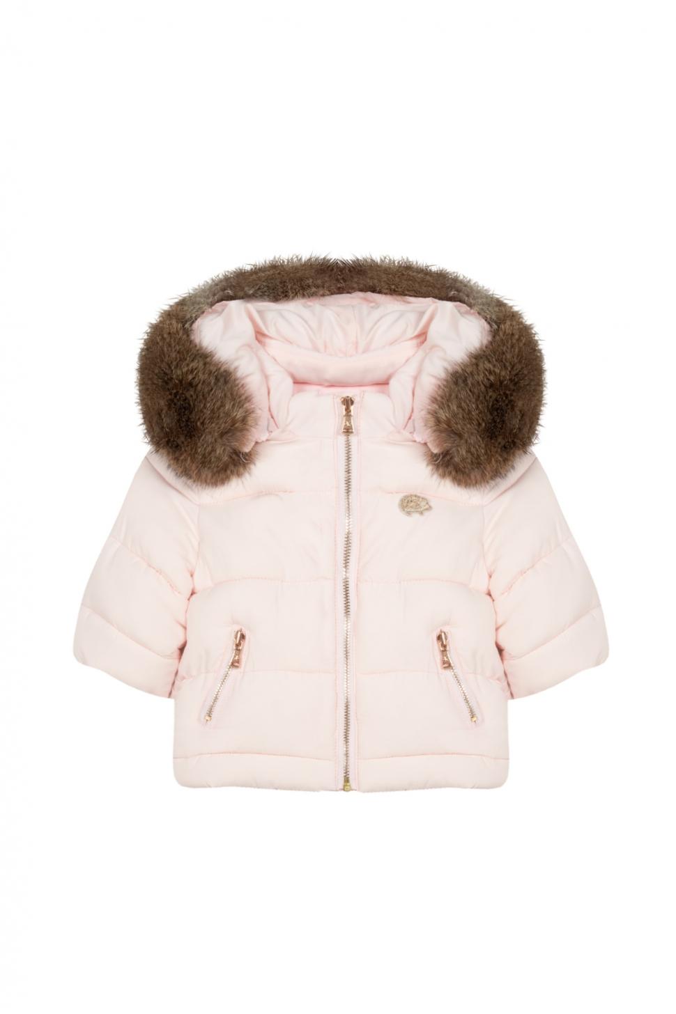 Roze Winter wonderland jas