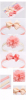 Newborn Haarbanden set met strik peach
