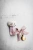Powder pink bow speenkoord