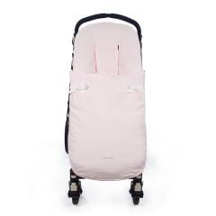 Kinderwagen voetenzak roze universeel