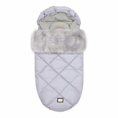 Luxe grijze diamond voetenzak