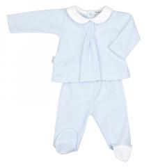 Licht blauw tweedelig babypakje