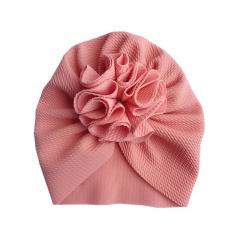 Baby Turban muts 6-18M zalm roze