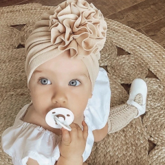 Baby Turban muts 6-18M licht roze