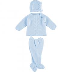 3 delig babypakje blauw met zigzag