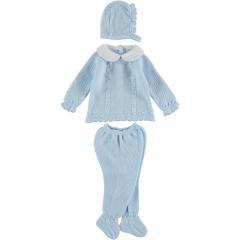 Babypakje 3 delig blauw