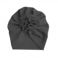 Baby Turban bloem 6-18M zwart