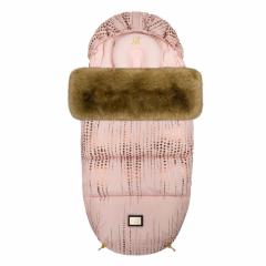 Luxe roze met gouden stippen voetenzak