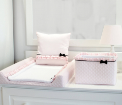 Roze Royal Paris inlegdekentje verschoningsmat